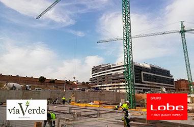 Obras Residencial Vía Verde Marzo 2021